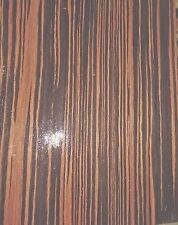 "Macassar Ebony composite wood veneer 8"" x 10"" x 1/40th"" thick with paper backer"