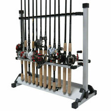 New Aluminum Alloy 24 Rods Rack Fishing Rod Pole Holder Stand Storage Portable