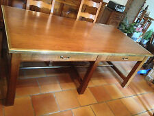 TABLE DE SALLE A MANGER RUSTIQUE EN BOIS MASSIF