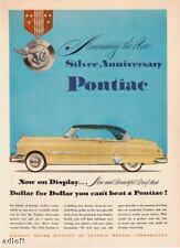 1951 Silver Anniversary Pontiac 2-door Hardtop print ad