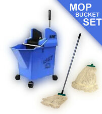 Kentucky Ladybug professional mop bucket set by SYR with handle, x2 heads BLUE