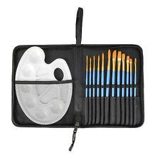 Pinsel Set 13 tlg. mit Farbpalette Künstlerpinsel Malpinsel-Set Malen Malpalette