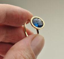14k Topaz Briolette Ring - size 7 1/4