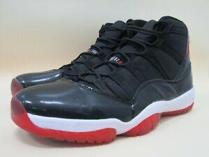 Air Jordan 11 Retro Bred Playoffs Men's High Top Sneakers Size 10 378037-010