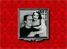 LILY HERMAN MUNSTER GOTH MAKEUP POCKET COMPACT MIRROR