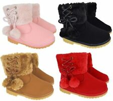 Unbranded Girls' Snow Zip Boots