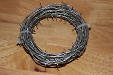 10 FEET BARB WIRE, BARBED WIRE NEW BEKAERT 18 GAUGE 4 POINT CRAFTS *MADE IN USA*