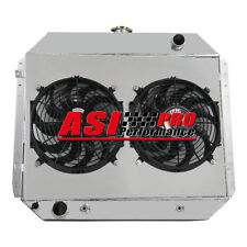 3 ROW RADIATOR +SHROUD FAN FOR FORD F100 F150 F250 F350 Bronco TRUCK 66-1979 PRO