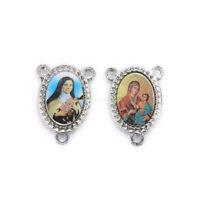 20Pcs High Quality Connexctors Religious Faith Spirituality Enamel Medals Charms