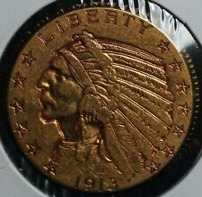 1913 Gold Five Dollars Indian G$5 Half Eagle Coin