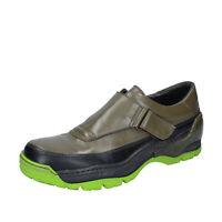 Chaussures Hommes MOMA 42 Ue Mocassins à Enfiler Vert Cuir BP929-42