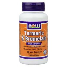 Tumeric & Bromelain 90 Vcaps by Now Foods FAST SHIPPING 1st Class Mail