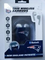 New England Patriots NFL Bluetooth Wireless Earbuds+Charging Case