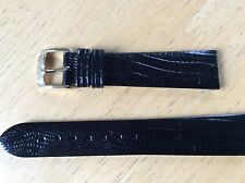 NEW SPEIDEL WATCH BAND BRACELET - Gator Lizard Grain 19mm Black Waterproof New