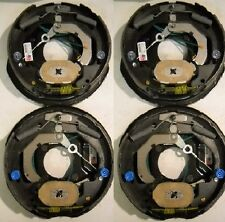 """4 - DEXTER Electric Brake Nev-R-Adjust  10"""" inch Backing Plate 3500lb Axle"""