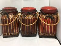Decor Large Cannisters Set Of 3 Handmade In Thailand