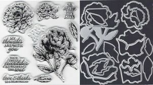 """STAMP SET """"PRIZED PEONY"""" with COORDINATING DIES"""