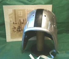 1940 Oakland Raider  eye patch Style Leather Football helmet  Silver and Black