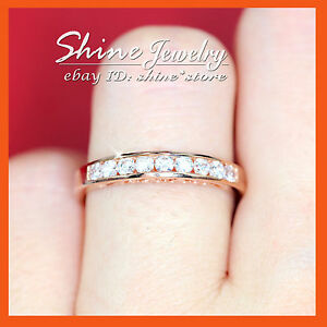 GENUINE 9CT SOLID GOLD FILIGREE DIAMOND CREAT ETERNITY BAND CLASSIC WEDDING RING