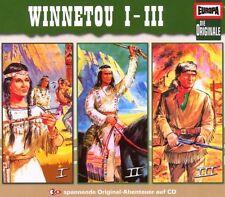 """DIE ORIGINALE """"WINNETOU"""" 3 CD BOX HÖRSPIEL NEU"""