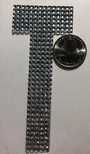 """GIANT SILVER RHINESTONE LETTER """"T"""" Stickers(1pc)JoAnn's•Name•Initial •Label•Last"""