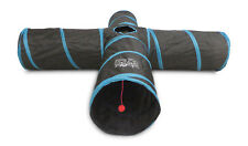 """4 Way Cat Tunnel Tube - Extra 12"""" WIDE And Extra LONG - Feline Ruff. Dogs too!"""