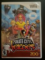 Skate City Heroes Nintendo Wii WITH CASE & INSTRUCTION MANUAL BUY 2 GET 1 FREE