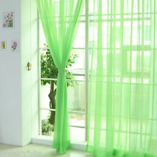 Transparency Pure Color Gauze Door Window Curtain Drapes For Living Room Bedroom