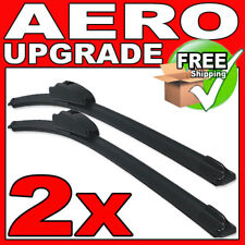"""21""""/19"""" Front Aero VU Flat Wiper Blades Windscreen Window Jointless Beam Upgrade"""