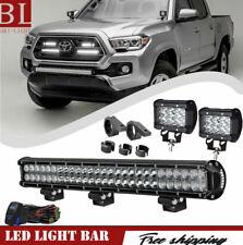 "25"" 162W Led Light Bar For Toyota Tundra 07-17 Front Bull Bar Bumper Grill Guard"