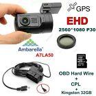 EYOYO 0806 A7LA50 Chip HD 1296P Coche Cámara Salpicadero Cámara DVR /GPS+CPL+