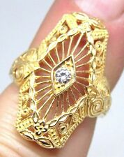 LADIES ANTIQUE FILIGREE REPRODUCTION RING,14K YELLOW GOLD, MAKE OFFER