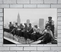 D-79 New Rockefeller Ironworkers Construction 27x40IN fabric Art Poster