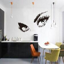 diy Audrey Hepburn Sexy Eyes Art Home Black Vinyl Wall Stickers Decals Removable