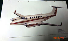 Super King Air 350 Color Brochure Very Aviation Airplane Aircraft Transportation