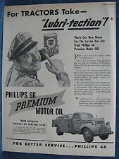 1948 Phillips 66 Ad  Happy Dealer Holds Oil Can   Dodge Gas Truck Shown