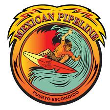 "Mexican Pipeline Surf Surfing Stickers Die Cut Decals 3""x3"" Epic Surf Breaks"