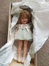 "1935 Ideal 16"" Shirley Temple Composition Doll in Light Blue Dress"
