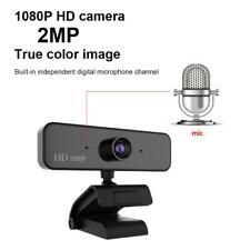 1080P HD USB 2MP Camera Web Cam Mic 360° Clip-on 30fps for PC Computer Laptop AM