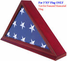 Flag Display Case Stand for a 3'X'5 Home/Flown Flag, NOT for Funeral-Burial Flag