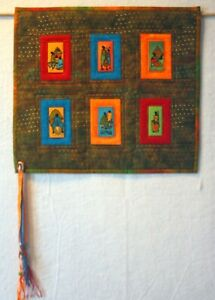 """HANDCRAFTED African Print Wall Hanging 18 3/4"""" x 16 3/4"""""""