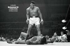 Muhammad Ali vs Sonny Liston First Minute Sports Poster Art Print 24x36 inch