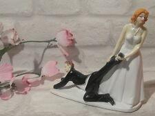 Hochzeitstorten Figur Hochzeit  Figur Deko Figur Sie zieht ihn Brautpaar 2 Neu