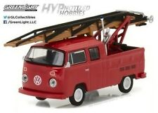GREENLIGHT 1:64 1976 VOLKSWAGEN TYPE 2 DOUBLE CAP PICKUP  DIE-CAST RED 29870-E