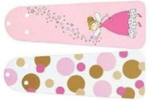 "Hunter Mix+Match  Kids personalized 42"" fan blades Princess/Pink Dots (23990)NEW"