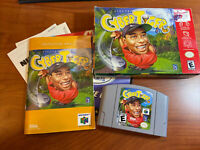 CyberTiger Nintendo 64 N64 Game Clean Tested Authentic Original Box W/ Manuals