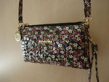 small patent leather handbag purse flowers mum sister nan friend beach holiday