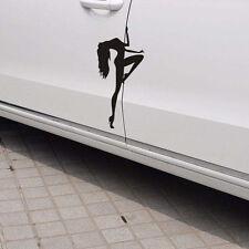 2PCS Black POLE DANCER Sticker Sexy Stripper Woman Vinyl Car Window Decal Useful