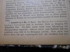 1902 Zeitung Juden 18 / Landsberg Warthe / Weißensee Berlin / Kempen