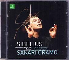 Sakari Oramo firmato sibelius symphony no. 6 & 7 Tapiola cd sinfonie cbso Erato
